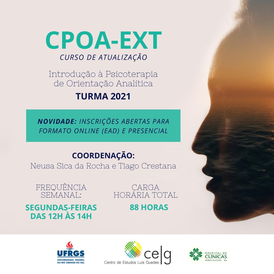 Divulgação CPOA - Introdução à Psicoterapia de Orientação Analítica - Inscrições Encerradas
