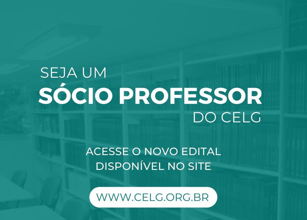 Divulgação EDITAL SÓCIO-PROFESSOR 01/2020